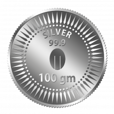 Mittal Group Pure Silver Coin 100 grams 99.9% Purity