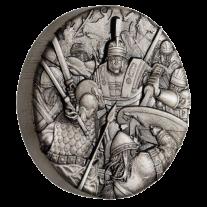 Warfare - Roman Legion 2018 2 oz Silver Antiqued High Relief Rimless Coin