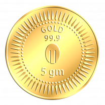 Mittal Group Pure Gold Coin 5 grams 24 KT (999)