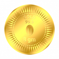 Mittal Group Pure Gold Coin 8 grams 24 KT (999)