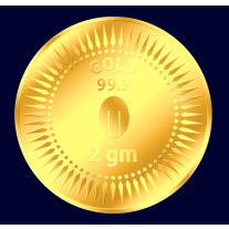 Mittal Group Pure Gold Coin 2 grams 24 KT (999) Purity