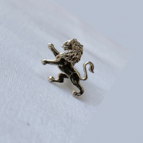 ODA Lapel Pin - Carved Lion (Nickel)