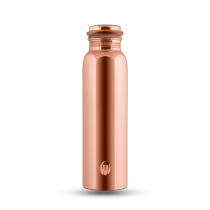 CopperKraft Pure GANGA - Mirror, glossy, shiny Copper Water Bottle 700 ml