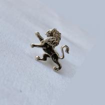 ODA Lapel Pin - Carved Lion (Nickel)