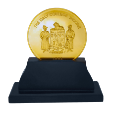 Daly College Medallion with stand - Gold Plated