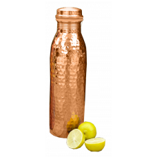 Hammered Copper Water Bottle 1000 ml
