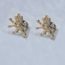 ODA Carved Lion Cufflinks (Nickel)