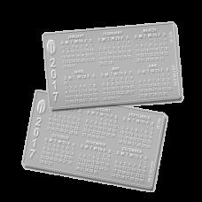 Silver Pocket Calendar - 2018