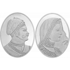 Indian King & Queen Coin Set - Silver 999