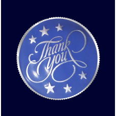 Personalised Thank You Silver Coin