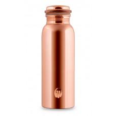 CopperKraft GANGA - Pure Copper Water Bottle 700 ml - Glossy/Mirror finish